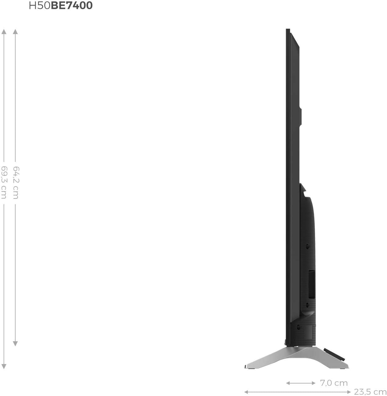 WiFi Smart TV VIDAA U 3.0 con IA Bluetooth Dolby Vision HDR 2 USB Hisense H43BE7400 Audio DTS Smart TV ULED 43 4K Ultra HD Salida /óptica 3 HDMI Procesador Quad Core Wide Color Gamut