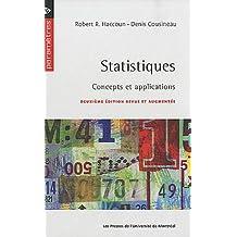 STATISTIQUES : CONCEPTS ET APPLICATIONS 2E ED.