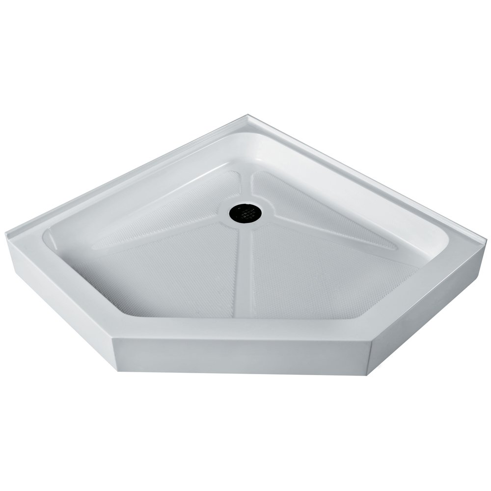 VIGO 38 x 38-in. Neo-Angle Shower Base, White - - Amazon.com