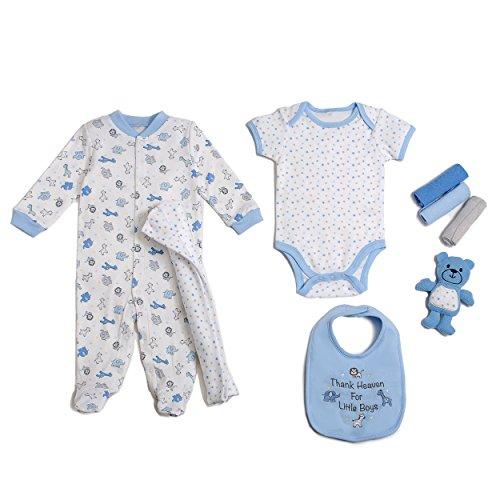 (Cutie Pie Baby Boys 9 Piece Layette Gift Set in Tuelle Bag, Thank Heaven 0-3 Months)