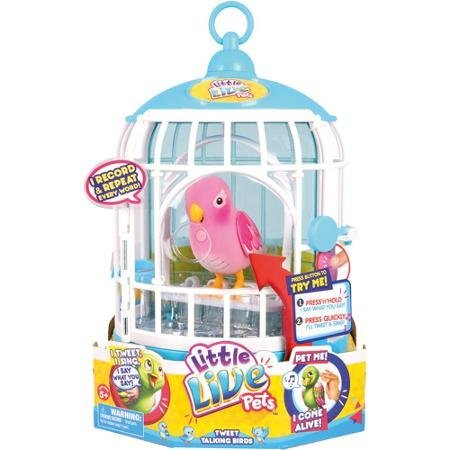 Little Live Pets Cage 3 Rare Pink Bird Cage Buy Online