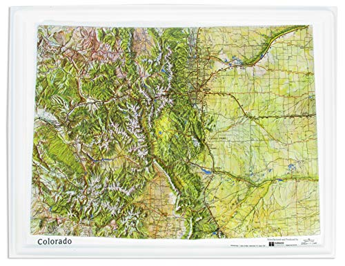 American Educational Colorado Natural Color Relief Map without Frame, 17