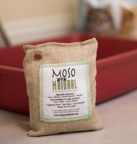 Moso Natural 200g and 500g Air Purifying Bag Deodorizers. Odor Eliminator for Cars, Closets, Bathrooms and Pet Areas. Absorbs and Eliminates Odors Natural Color by Moso Natural (Image #4)