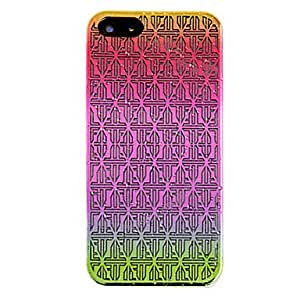 ZCL Embossment Rhombus Totem Raindrop Effect Back Case for iPhone 5/5S