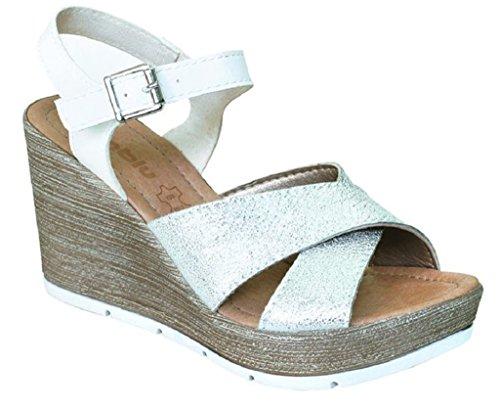 pour Blanc Femme Inblu Sandales EU Bianco 36 B8Aq5qgx