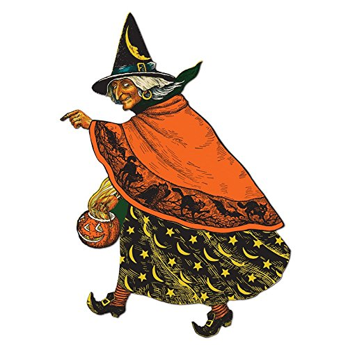 [Club Pack of 12 Spooky Classic Witch Cutout Halloween Decorations 19