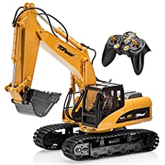 Top Race Remote Control Excavator - Metal Shovel Construction Toy for Enthusiasts   The Top Race Excavator  comes equipped with all the features of a real construction vehicle. This  excavator toy  features a metal shovel for realistic transp...