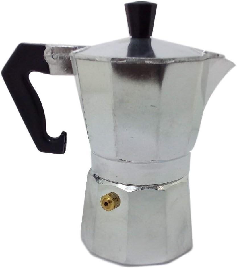 Ducomi Moka Express – Cafetera expreso de aluminio – Mango térmico para un café italiano cremoso y especial – Satisfacción o reembolso 1/2 Tazza plateado: Amazon.es: Hogar
