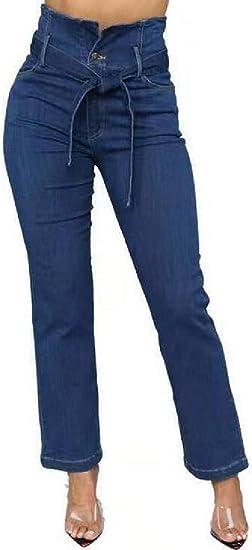 FRPE Women's Stretchy Bodycon High Waist Slim Jeans Denim Pants