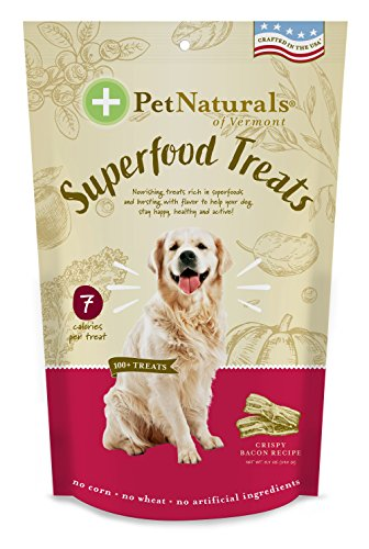 (Pet Naturals Of Vermont – Superfood Treats For Dogs, Crispy Bacon Flavor, 100+ Bite-Sized Chews, Organic Ingredients)