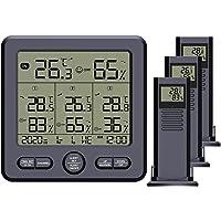 Higrómetro-Termómetro Higrómetro Termómetro Higrometro Digital para Interior Termómetro Higrómetro Digital Portátil…