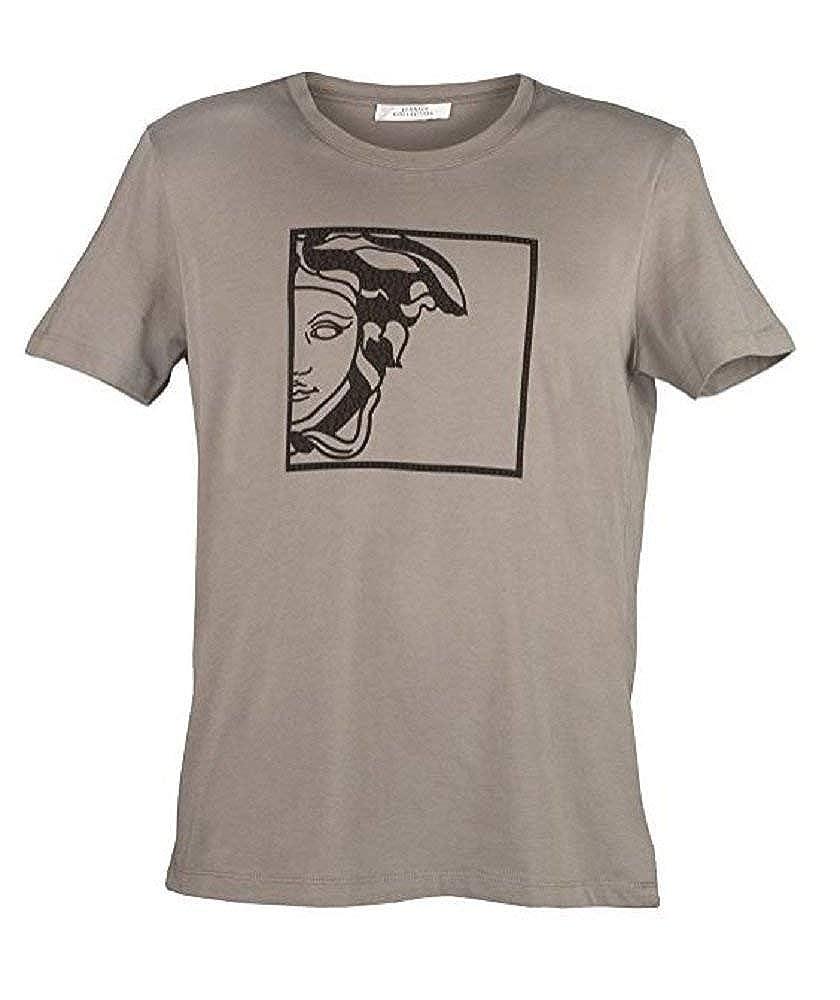 Versace Collection Mens Gray Medusa T-Shirt