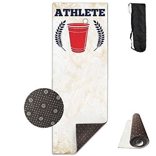 Beer Pong Athlete Yoga Mat Towel For Bikram/Hot Yoga, Yoga And Pilates, Paddle Board Yoga, Sports, Exercise, Fitness Towel ()
