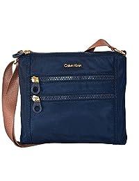 Calvin Klein Nylon Crossbody Bag Handbag Purse Navy Cross Body