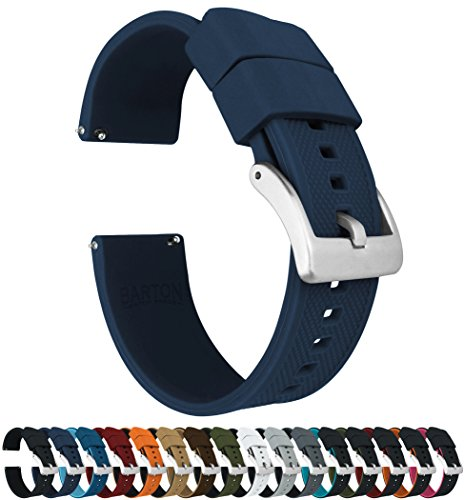 Barton Elite Silicone Watch Bands - Quick Release - Choose Strap Color & Width - Navy Blue 22mm