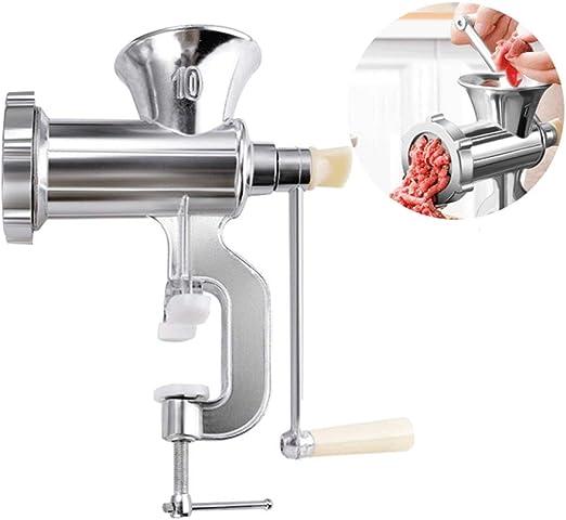 Wmeat Picadora de Carne Manual, con Mesa de Hierro Fundido Clamp ...
