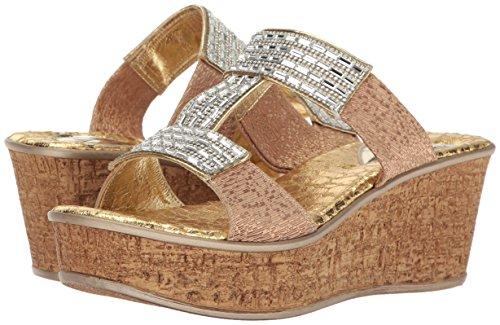 Love & Liberty Women's Sai-Ll Wedge Sandal, Gold, 6 M US by Love & Liberty (Image #6)