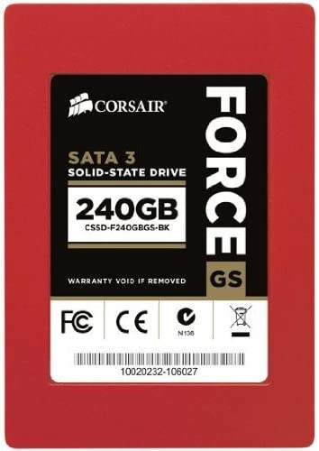 Corsair Force GS - Disco Duro sólido Interno SSD de 240 GB, Rojo ...