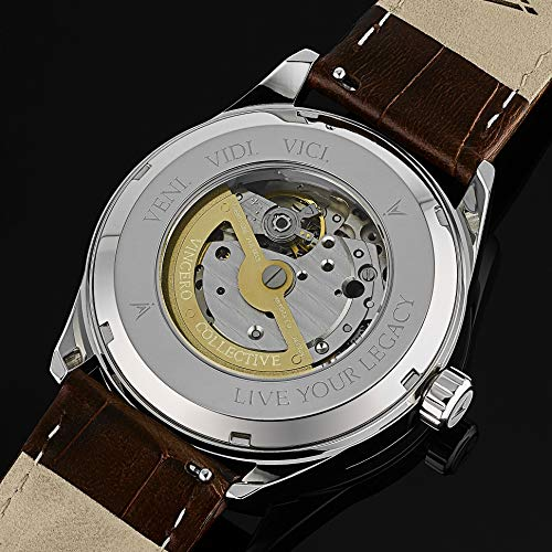 Vincero Luxury Men's Kairos Automatic Wrist Watch with Italian Leather Watch Band — 42mm Automatic Watch — Citizen Miyota Automatic