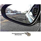 (Pair) Objects in Mirror are Losing Decal BLACK Etched Glass Funny Sticker (Come With stickerbomb hand decal) stickerciti Brand