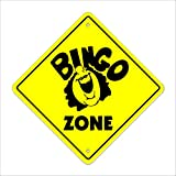 Bingo Crossing Sign Zone Xing | Indoor/Outdoor | 20'' Tall Card Chips Club Church Game time
