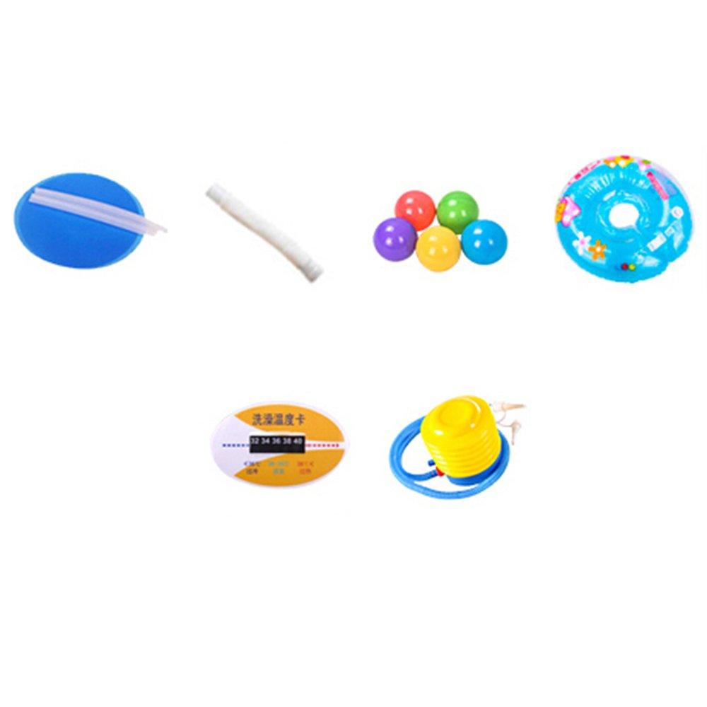 Hw bathtub Baby Inflatable Rectangular Print Swimming Pool Material: PVC Size: Small: 10512075cm; Large: 10514075cm Bathtub (Color : B) by Hw bathtub (Image #6)
