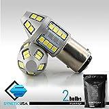 50W 6000K White 1250 Lumens High Power LED Turn Signal/Brake/Tail/Reverse/Parking Light Bulbs 1156/1157/3157/7443 (1157)