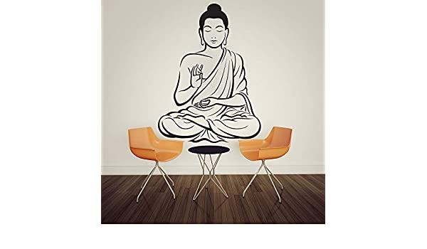 jiushizq Calcomanías para el hogar Meditando Estatua de Buda ...