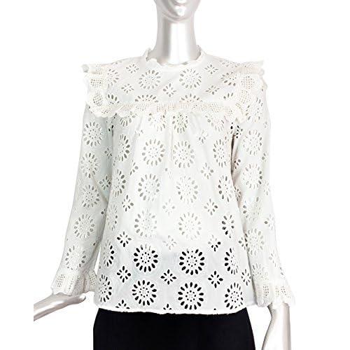 acheter pas cher super mignon moitié prix Zara Femme Blouse Brodée Et Perforée 7521/067 [6LPcS1007319 ...