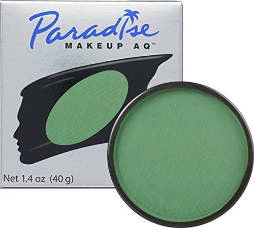 Clown Collection Costumes Makeup Kit (Mehron Makeup Paradise AQ Face & Body Paint, DARK GREEN: Basic Series - 40gm)