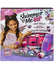 Cool Maker, Shimmer Me Body Art with Roller, 4 Metallic Foils and 180 Designs, Temporary Tattoo Kids Toys for Ages 8 and up