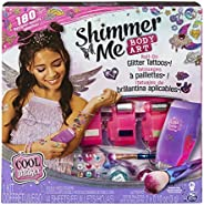 Cool Maker, Shimmer Me Body Art with Roller, 4 Metallic Foils and 180 Designs, Temporary Tattoo Kids Toys for