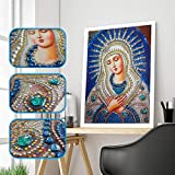 Special Shaped Diamond Painting Madonna - Franterd DIY 5D Partial Drill Cross Stitch Kits Crystal Rhinestone of Picture Diamond Embroidery Mosaic Arts Craft Home Wall Decor
