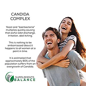 Best Candida Cleanse Support with Probiotics - Caprylic Acid Extra Strength-Non-GMO Yeast Infection Treatment-Candida Complex for Men & Women - with Oregano Leaf Extract-Preventing Reoccurrence