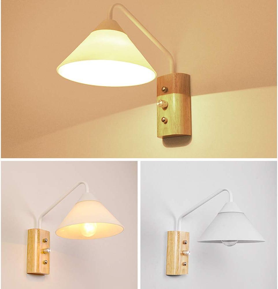 E14 Paralume in vetro Applique da parete, Modern Lampade da parete Plug-in Per Comodino Studio Soggiorno Illuminazione-bianca Bianca