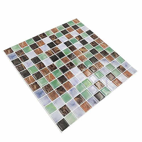 "Cocotik Peel and Stick Tile 10""x10"" Self Adhesive 3D Wall Tile in Square, Pack of 10(7 sq.ft) lovely"