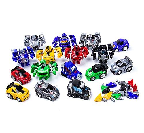 エレガントで美しいポケット変身ロボット 車のおもちゃ かわいいミニ変形カーモデル 男の子用おもちゃ ギフト シルバー LHJ-GG012-20190214-a431 B07NQL2YKL  シルバー(Silver)