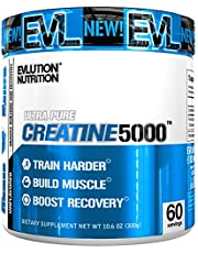 Evlution Nutrition Creatine5000, 5 Grams of Pure Creatine in Each Serving, Unflavored Powder (60 Servings)