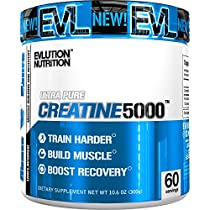 Evlution Nutrition Creatine5000 | 5 Grams of Pure Creatine in Each Serving | Unflavored Powder (60 Servings)