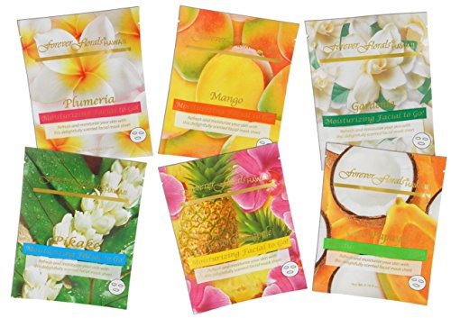 Mask Sampler - Hawaii Forever Florals Moisturizing Facial Mask Sampler Pack 2 Sets