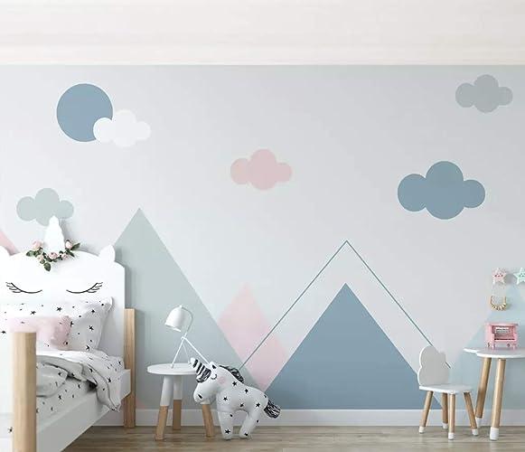 Amazon.com: Murwall Kids Wallpaper Blue Pink For Child ...