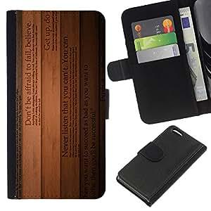 Leather Etui en cuir || Apple Iphone 5C || Crea líneas de texto Libros Inspiring Madera @XPTECH