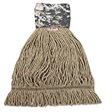 Unisan UNS 8200L Patriot Looped End Wide Band Mop Head, Large, Green/Brown (Case of 12)