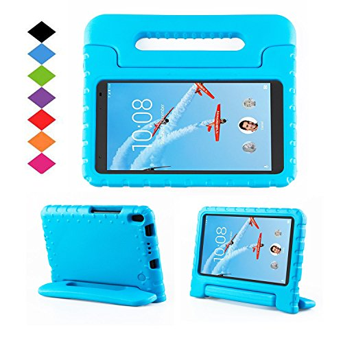 TIRIN Lenovo TAB 4 8 Plus Case- Light Weight EVA Shock Proof Convertible Handle Stand Case Cover for Lenovo TAB 4 8 Plus 2017 Tablet (TB-8704F/N)(NOT fit Lenovo TAB 4 8 Tablet TB-8504F/N), Blue