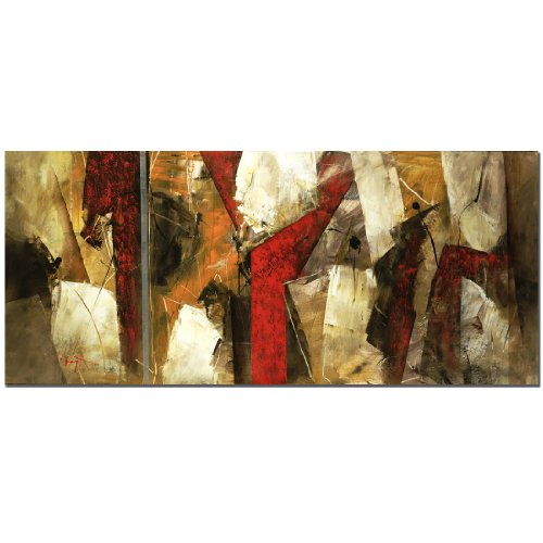 Abstract IX by Master's Art, 14x32-Inch Canvas Wall ()