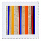 3dRose Alexis Photography - Abstracts - Colorful line abstract of metal and wood - 22x22 inch quilt square (qs_267265_9)