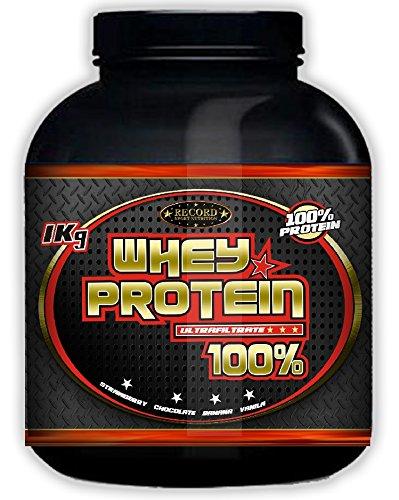 Whey Protein 100% 1kg profesional, proteina de suero, sabor platano: Amazon.es: Salud y cuidado personal