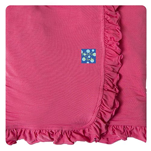 Cheap KicKee Pants Ruffle Stroller Blanket, Winter Rose, One Size