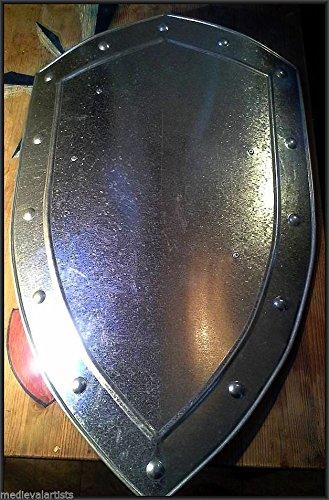 Medieval Knight Steel Battle Shield- Custom Size Shield ()