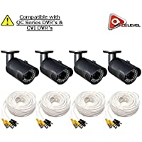 Q-See 1080p HD Bullet Security Camera 4-Pack: 2MP, 3.6mm Lens, 24 IR LEDs up to 80ft, 2D-DNR, BLC, AGC, IP66 - QCA8050B